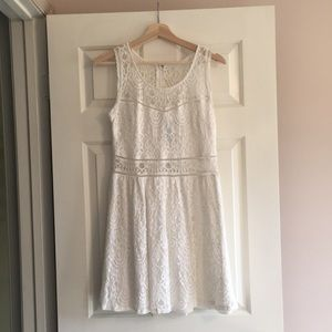 Dresses & Skirts - White lace fit and flare dress.